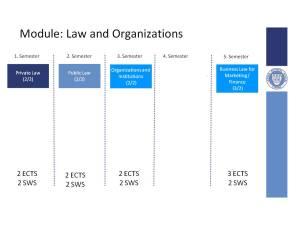 Law subjects in school list