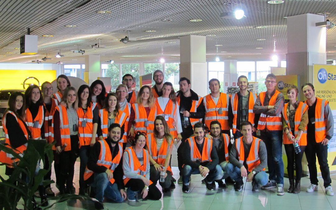 IBA 2014 students visit Opel Wien