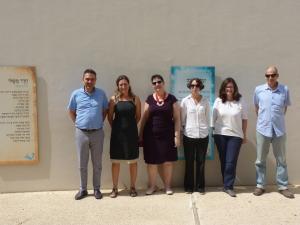 Prof. Dem (LBS), Hila Zehavi, Dr. Stavi Baram, Yael Maayan (all BGU Beer Sheva), Dr. Kübler (LBS), Dr. Yotam Lurie (BGU Beer Sheva)