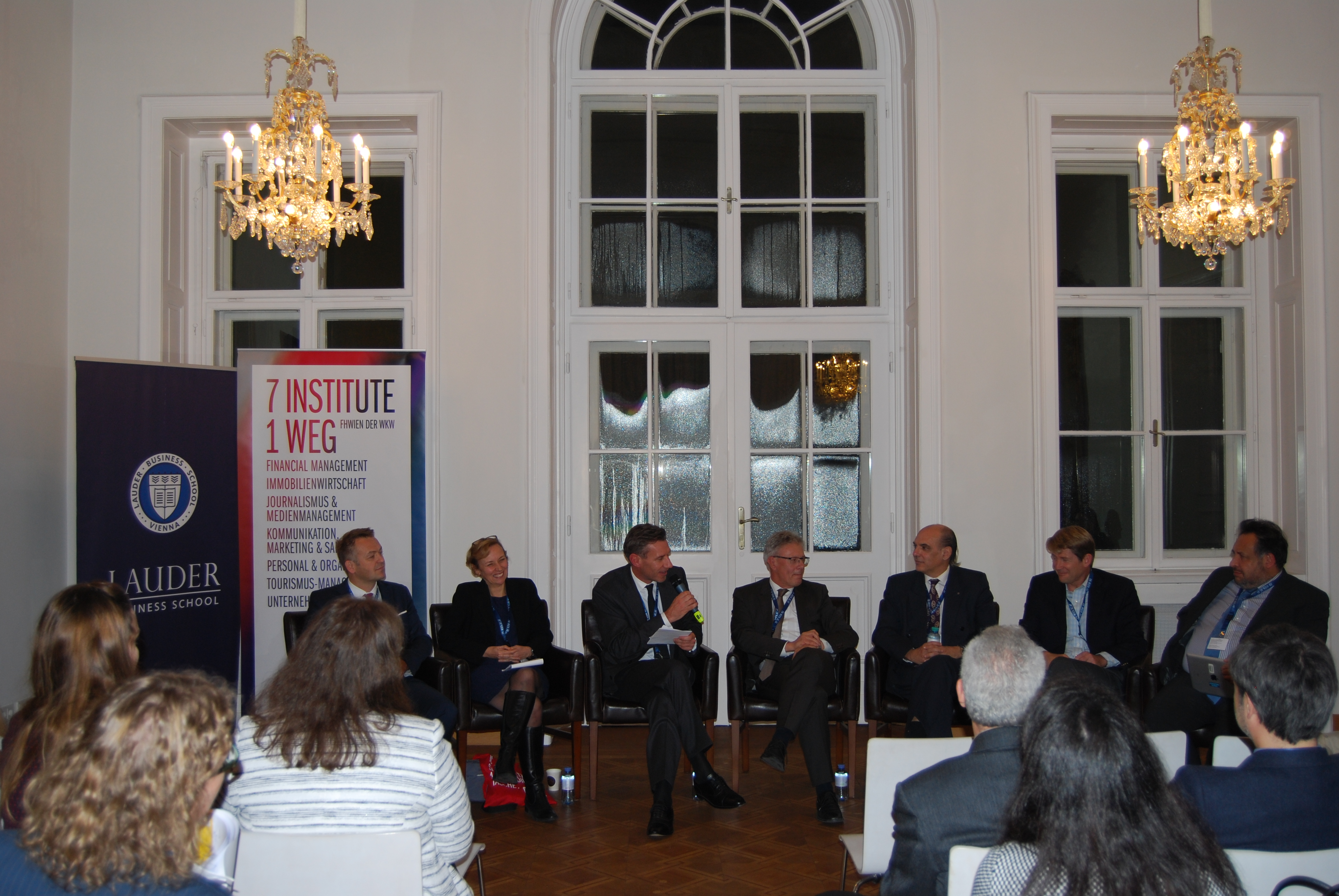 Werner Pamminger (Business Upper Austria), Laura Spence (Royal Holloway), Markus Scholz (FH Wien), Albin Hahn (Manner), Pablo Collazzo-Yelpo, Marc Pfitzer (FSG), Bernardo Calzadilla-Sarmiento (UNIDO)