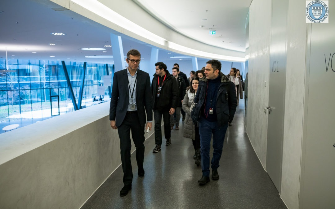 LBS students visit Erste Bank Campus