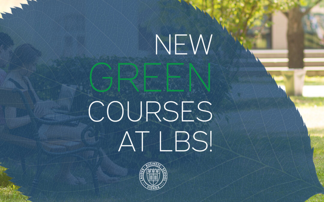 Introducing new GREEN courses